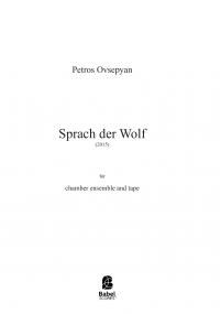 Sprach der Wolf