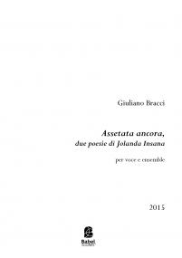 Assetata ancora, due poesie di Jolanda Insana