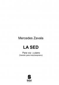 LA SED, para mezzo y piano