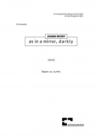 as in a mirror, darkly