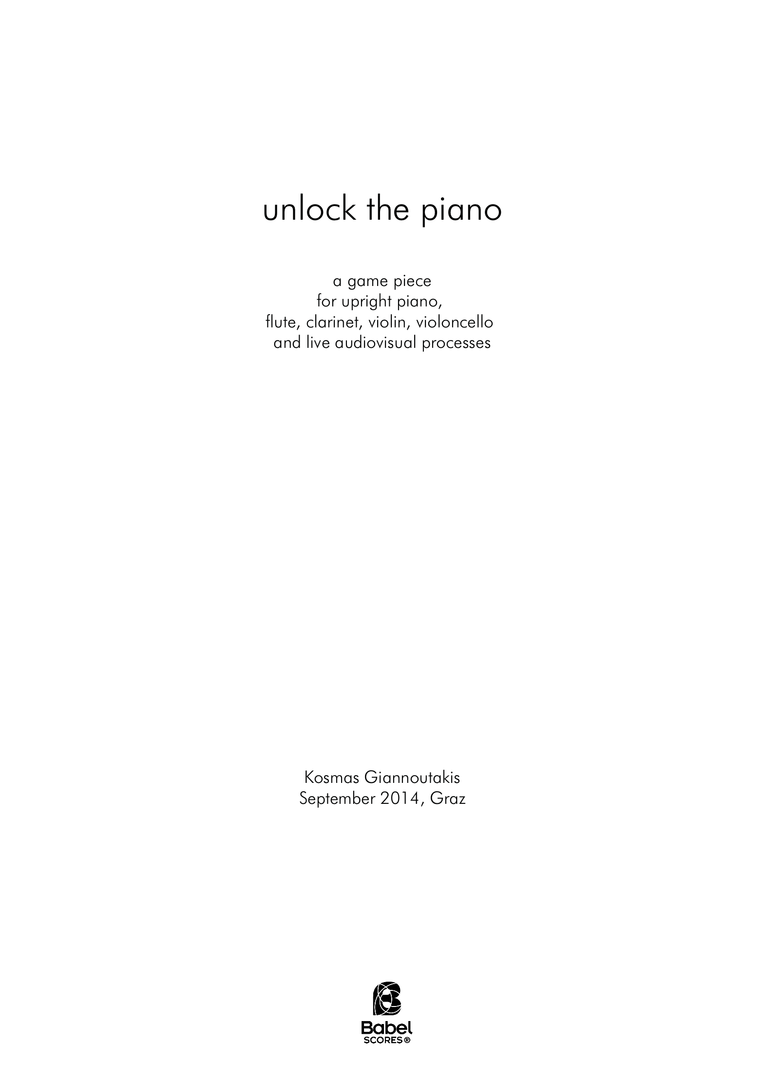 unlock the piano A4 z